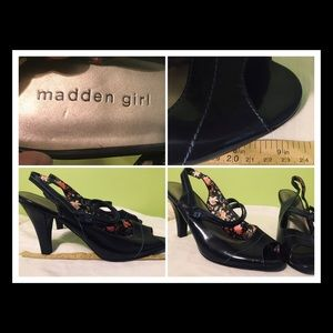 Madden Girl peep toe high heel shoes